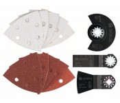 Универсальный набор из 23 шт. ACZ 85 EB (1x), AIZ 28 EB (1x), ATZ 52 SFC (1x), шлифлист (20 шт.) Bosch